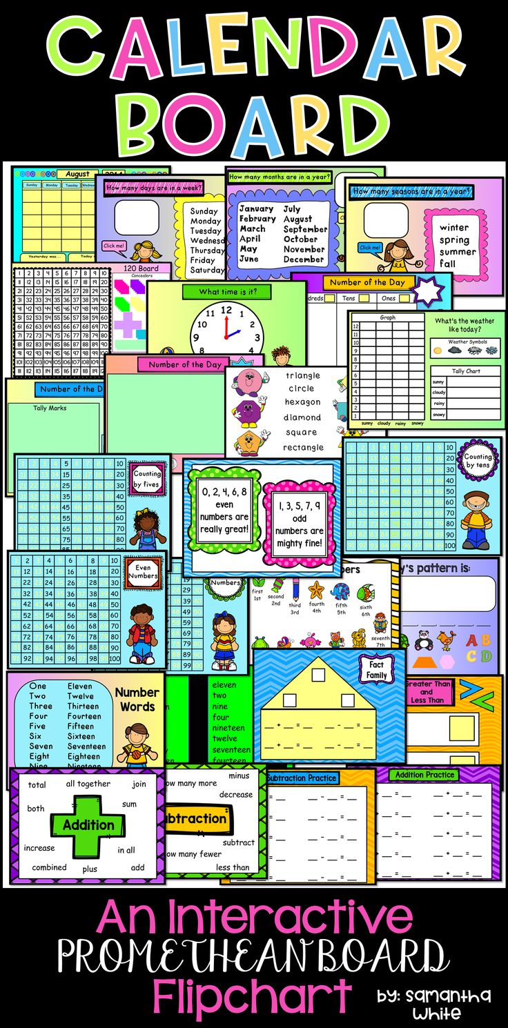 Kindergarten Calendar For Promethean Board : Best teaching calendar ideas on pinterest