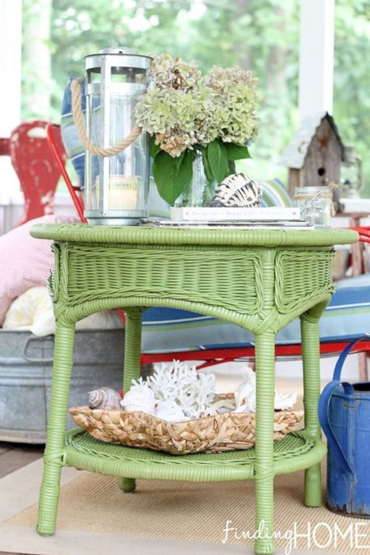15 Painted Wicker Furniture Ideas To Adorn Your Home