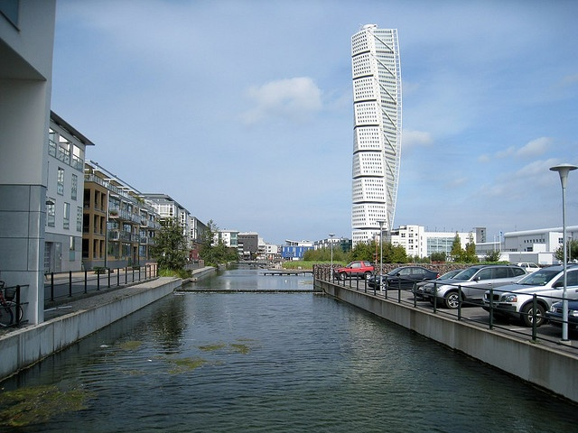 Turning Torso apartment building in Malmo, Sweden