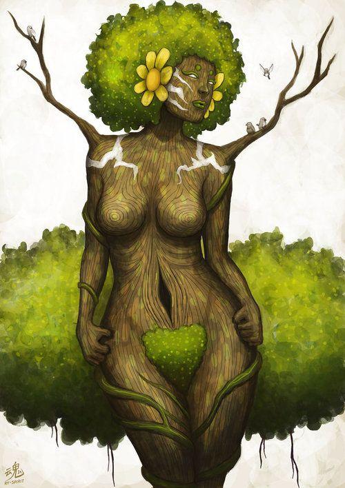 Goddess of Earth by Ry-Spirit Visit fuckyeablackart.tumblr.com