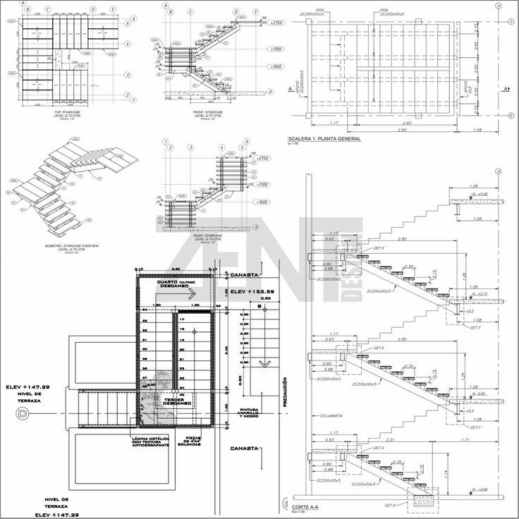 Las 25 mejores ideas sobre escaleras metalicas en - Medidas de escaleras ...