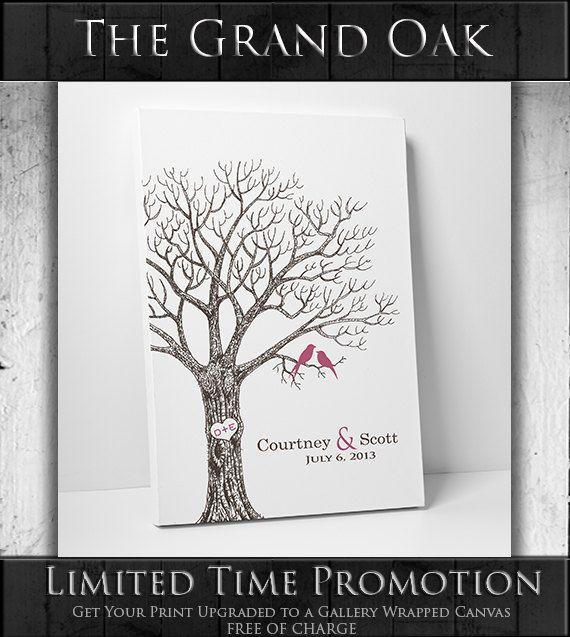 Benutzerdefinierte+Hochzeit+Gästebuch+/+/+von+thumbprintguestbook,+$29,00