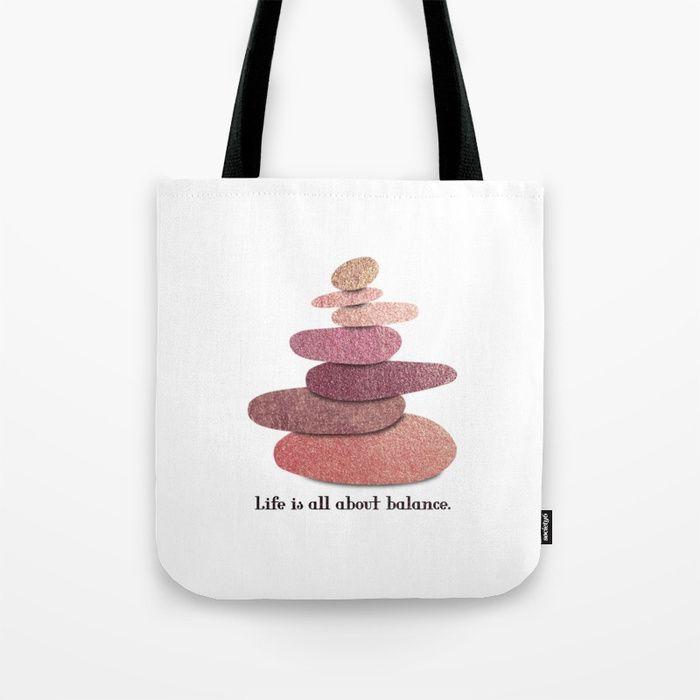 Balancing stones Tote Bag