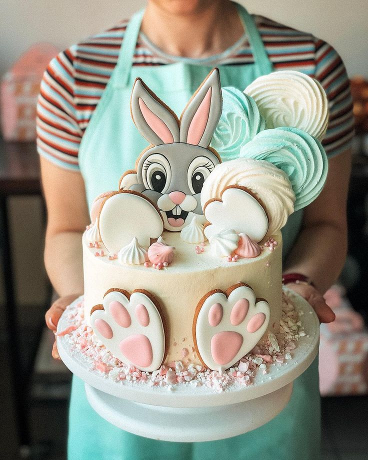 Such a cutie crawled between Easter cakes ..🐰   – Luisa