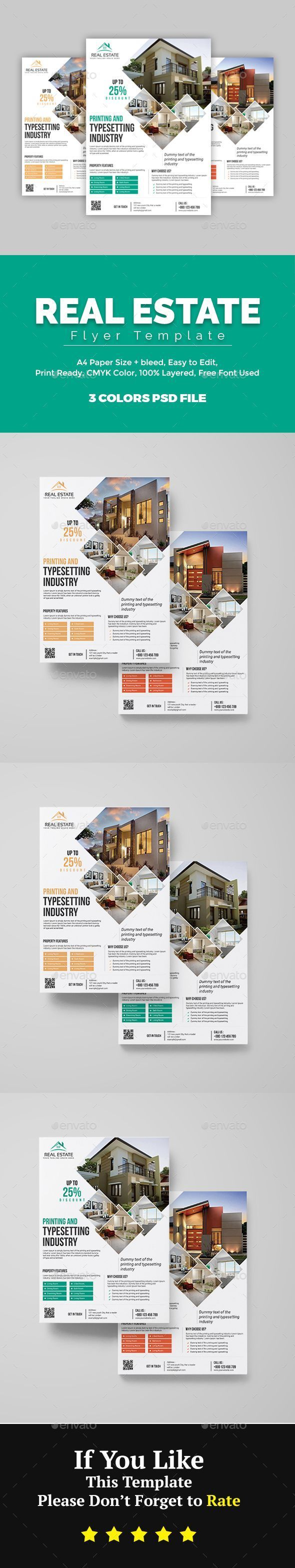 Real Estate Template%0A  Real  Estate  Flyer  Flyers Print Templates Download here  https