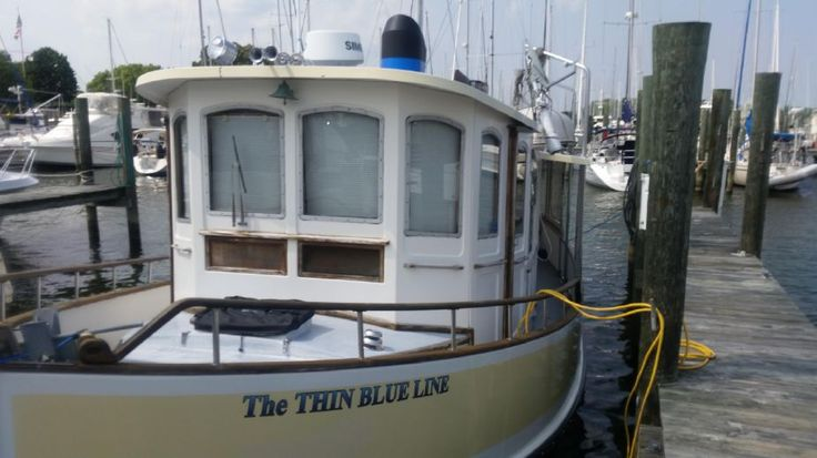 1984 Pilgrim North Castle efficient Trawler Pilothouse Power Boat For Sale -