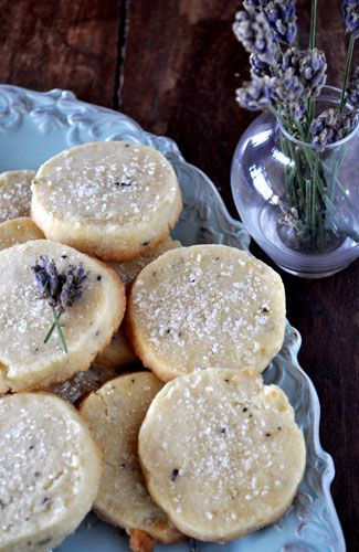 lavender shortbread cookies -- I love these!!