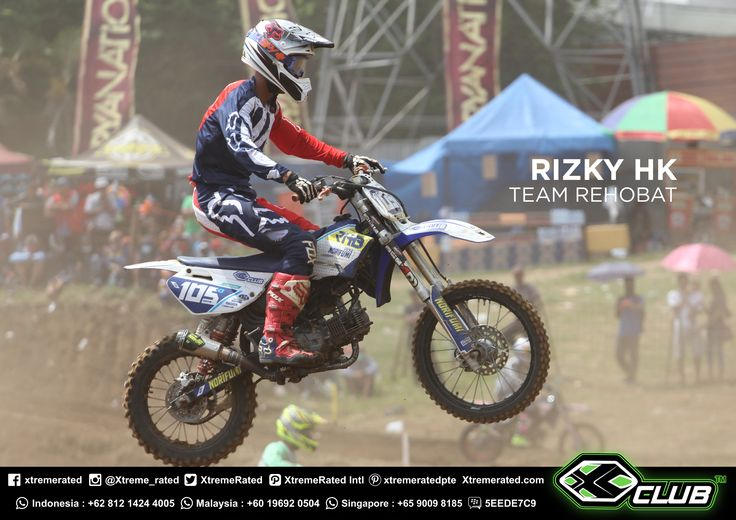 CONGRATULATIONS!  XCLUB Sponsor Rider REHOBAT TEAM  RIZKY HK 1st Place in Moped Class 125 Open POWERTRACK SERIES 4 (Nov, 04 - 05th 2017) Circuit Powertrack Paramount, Batu, Malang, Indonesia.  #xtremerated #xclub #grasstrack #indonesia