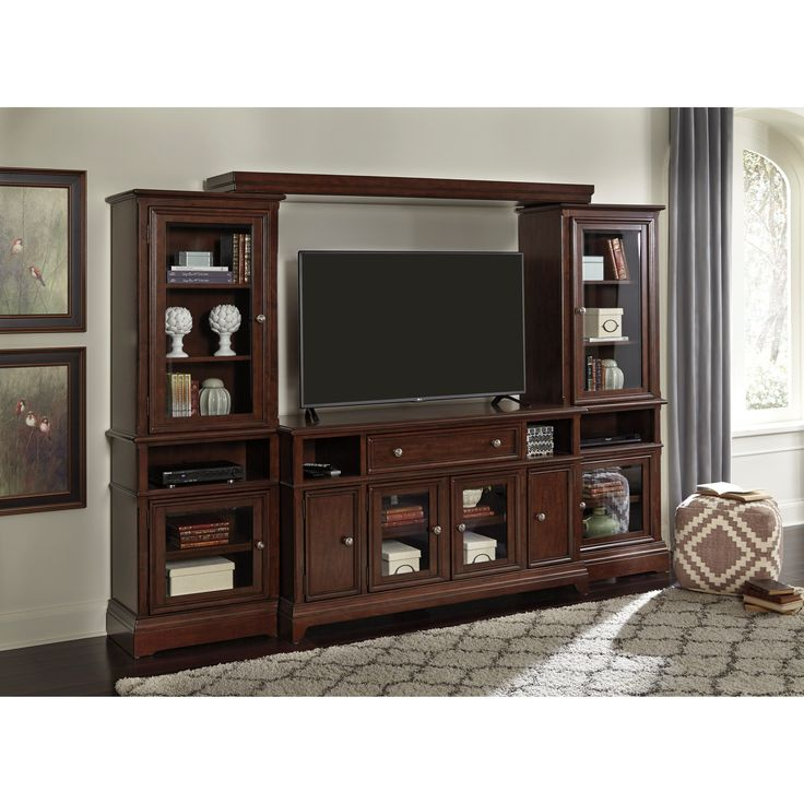 Enjoy The Timeless Design Style In Your Entertainment Space That This  Entertainment Wall Unit Offers.