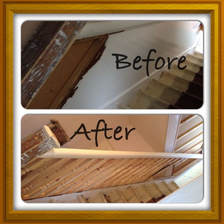 Remove Old Staircase Banister Covering And Replace With