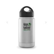 12oz Wide Vacuum Insulated Kanteen w/Loop Cap, Brushed Stainless. An eco-friendly and healthy alternative to disposable water bottles or cups! Keep liquids hot for up to 6hrs, or cold for more than 24hrs!