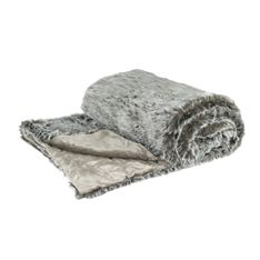 grace dynasty faux fur throw 240x260cm