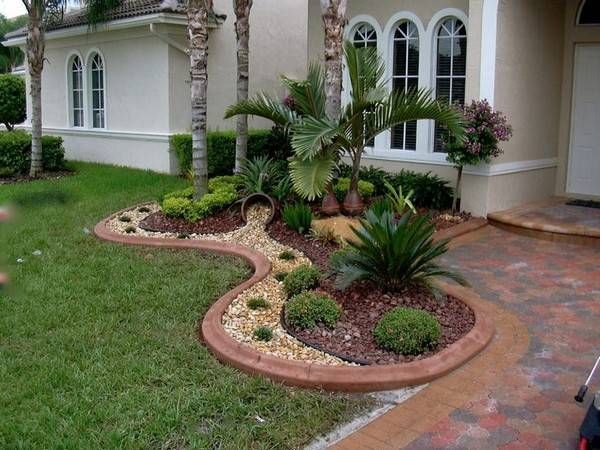 lawn edging ideas wood - Edging Landscaping Designs For New House