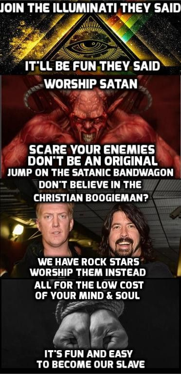 Worship the rock stars, and they'll do Satanic rituals in their music videos so you don't have to.
