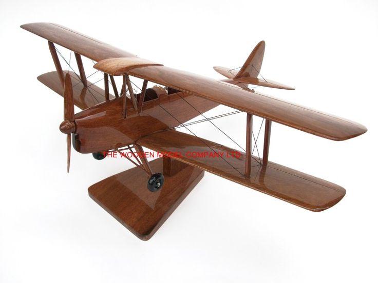 Tiger Moth Wooden Model (High Gloss)