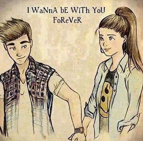 Afbeelding via we heart it for Cute drawings for a girlfriend