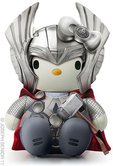 Thor Kitty  http://lounge.obviousmag.org/tempos_liquidos/2012/01/as-multifacetadas-hello-kittys-de-joseph-senior.html