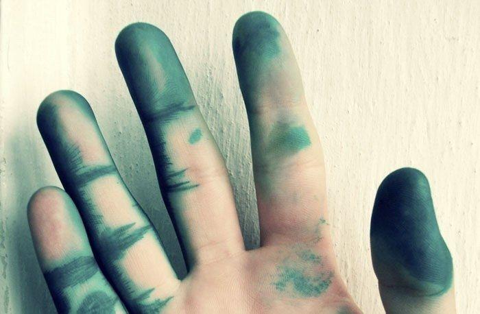 Как отмыть зеленку с кожи