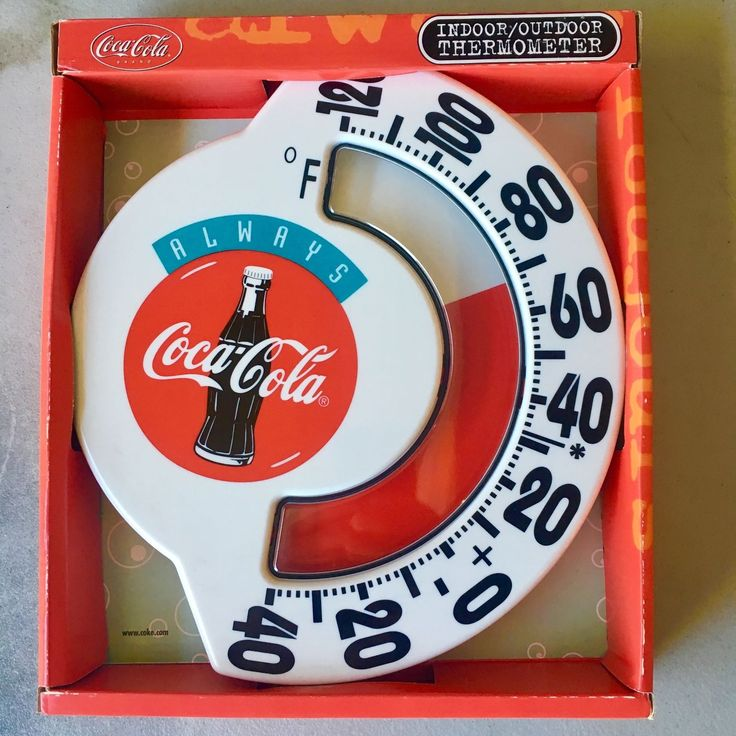 Coke Always Coca Cola Thermometer Indoor/Outdoor VERY RARE w/ Vintage Slogan NEW