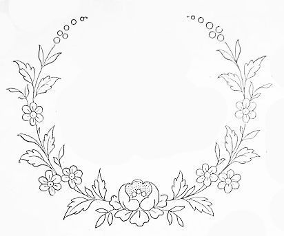 Embroidery Patterns can easy be transformed into wood burning patterns!