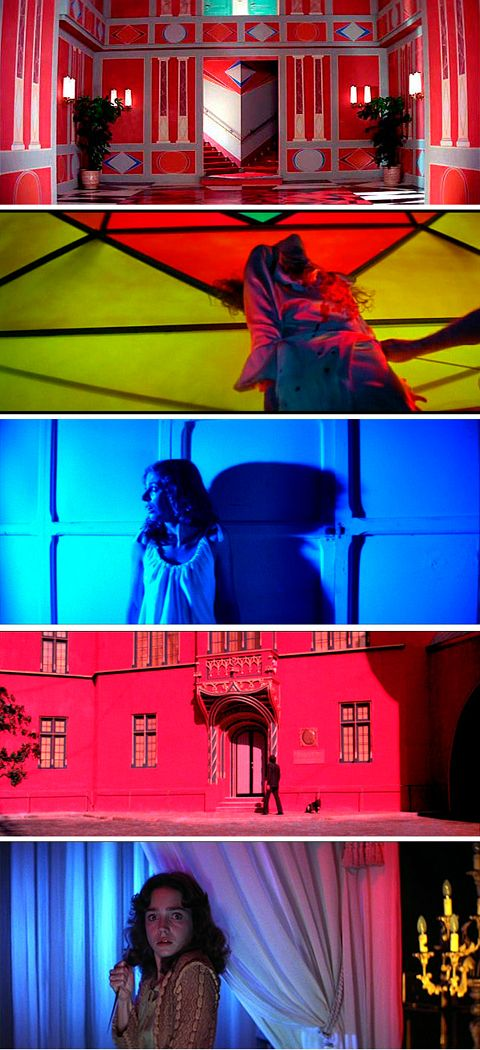 Suspiria par le Maestro Dario Argento, le jeux des lumières porte le film à bout de bras