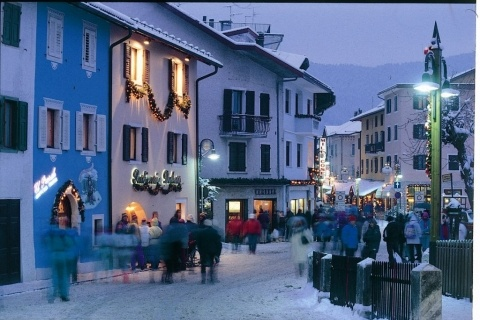 Family Friendly Skiing in Italy. Pretty town centre of Folgaria, straight out of christmas card! www.mountvacation.com