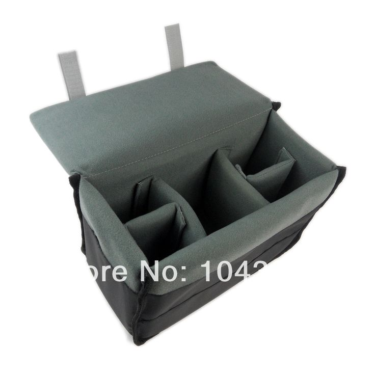 nieuwe draagbare slr dslr camera insert verdelingscoëfficiënt innerlijke gewatteerde tas inzetstuk dekking in  van  op Aliexpress.com