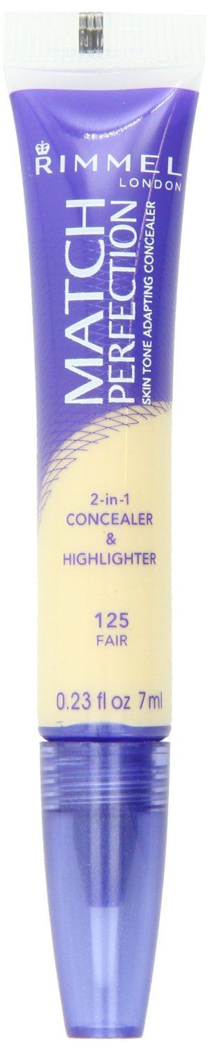 Skin Tone adapting concealer  1-in-1 concealer and highlighter  Rimmel  Match Perfection Concealer: rated 4.0 out of 5 on MakeupAlley.  See 420 member reviews,  ingredients and photos.