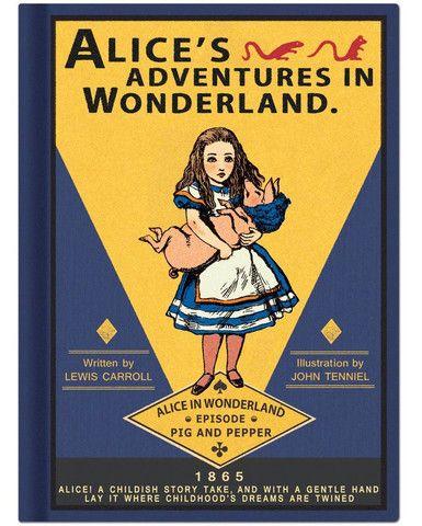 Notebook (Hardback, blank): Alice in Wonderland