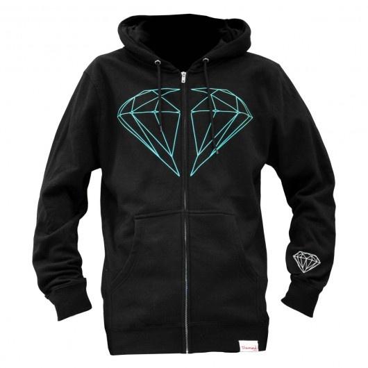 Diamond Supply Co Brilliant zip up sweat à capuche zippé black 110€