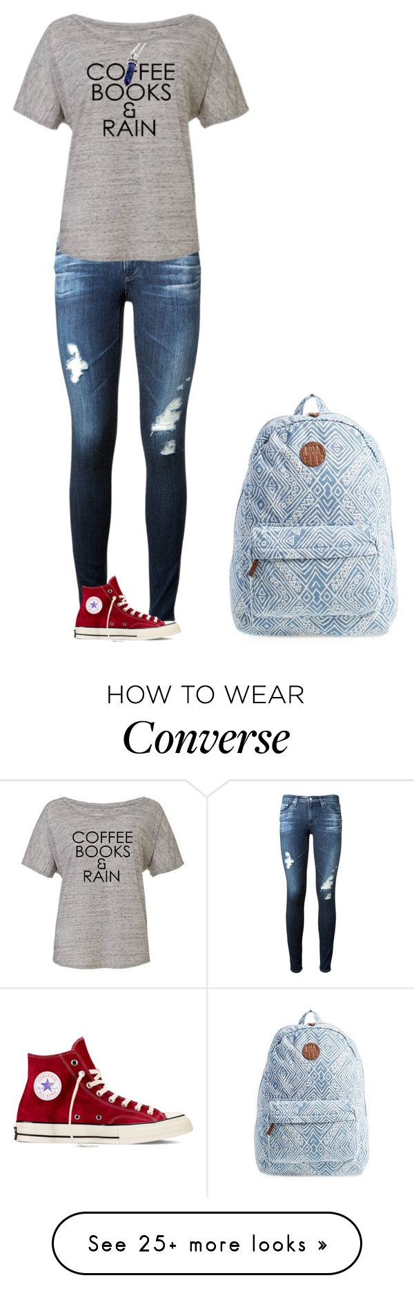 """Alice in Zombieland-Chapter 7:Out of the Chrysalis and Into the Abyss"" by umanamelb on Polyvore featuring AG Adriano Goldschmied, Converse, Billabong and Bellini"
