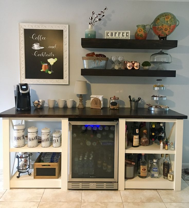Coffee Wine Bar This Is Nice But I D Like To Have A Door On The Liquor That S Lockable Kids Will Be K Bars For Home Home Bar Designs Home Coffee