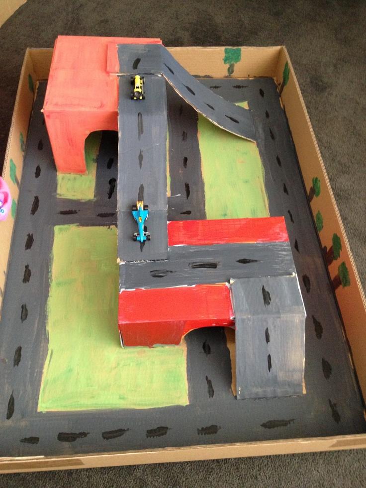how to make a cardboard race track