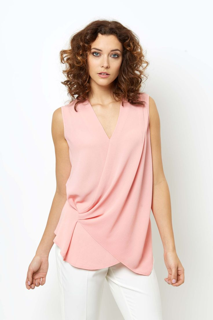 Asymetric Textured Top, Pink | BHS