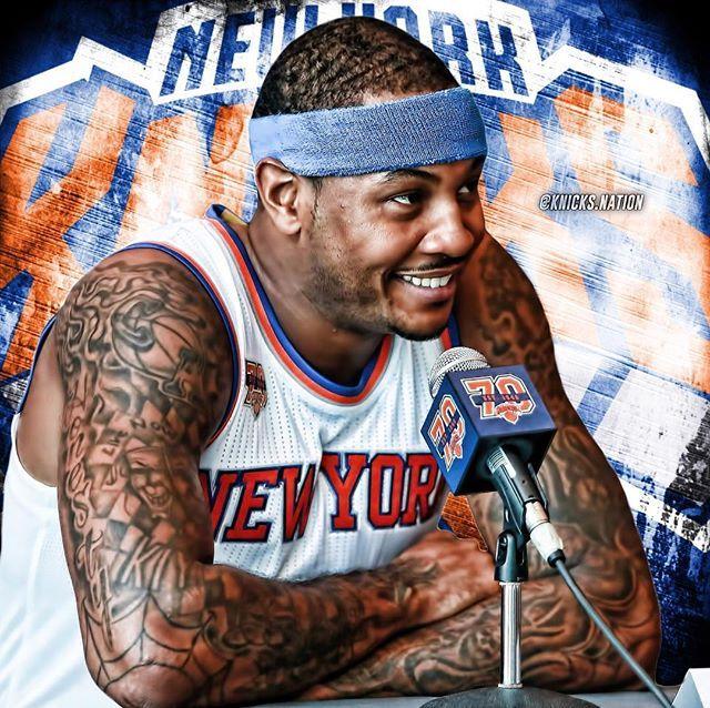 @CarmeloAnthony  #KnicksMediaDay  #Knicks #KnicksNation #SportsPosters