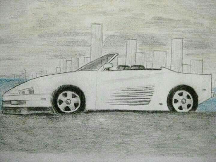 Araba Karakalem Cizim Karakalem Cizimler Cizim Egitimleri Drawing