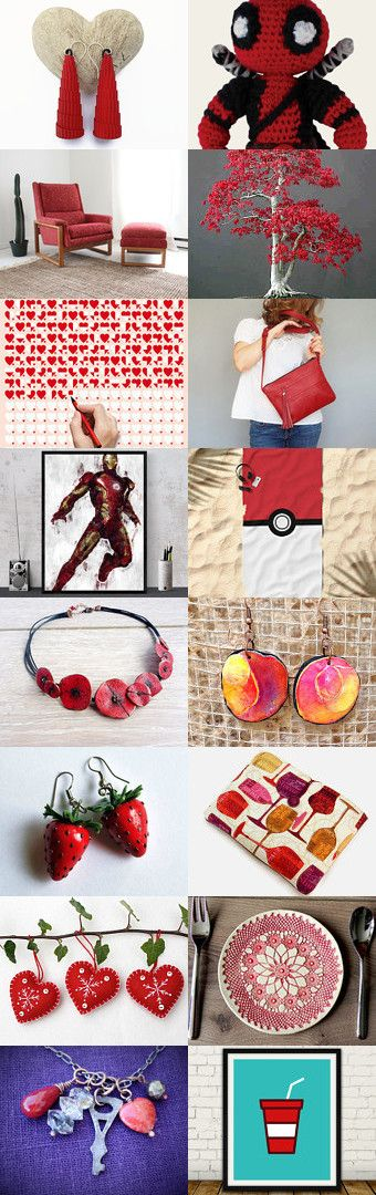 Red inspiration by La Chic on Etsy--Pinned+with+TreasuryPin.com