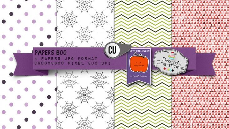 Papers Boo by Debora's Creations (CU)