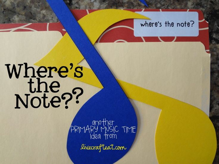 where's the note?? a fun primary singing time (or FHE) game your kids will love! | www.livecrafteat.com