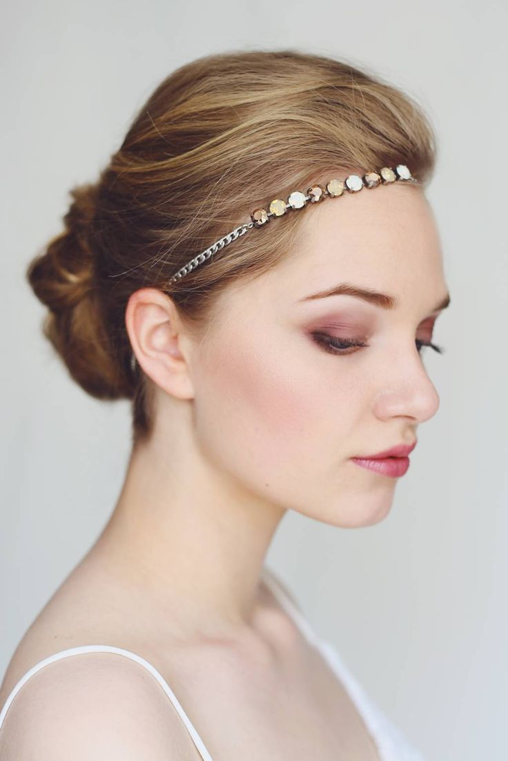 http://www.vousmademoiselle.com Bijou de tête mariage Etincelante laiton argenté et cristal swarovski Headband wedding Etincelante sliver brass and cristal swarovski