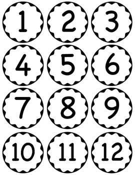 Circle Scalloped Numbers Abc Coloring Pages Classroom