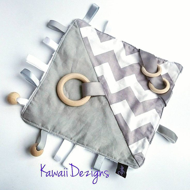 Sensory Activity Blanket now available in Grey Chevron Order yours at our Etsy shop: http://www.etsy.com/au/shop/kawaiidezigns Or our Ebay Store: http://myworld.ebay.com.au/kawaiidezigns #baby #mum #dad #tagblanket #Tag #activity #sensoryplay #ribbons #