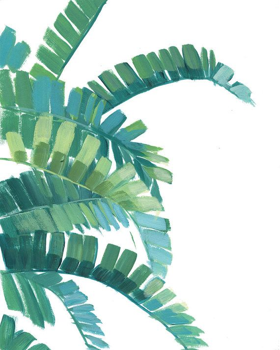 Banana Leaf Print Green Tropical Leaves Print by shelbydillon