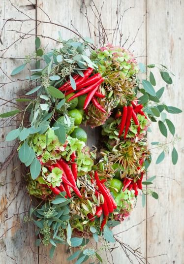 Sarah Raven's beautiful wreaths and natural decorations for Christmas