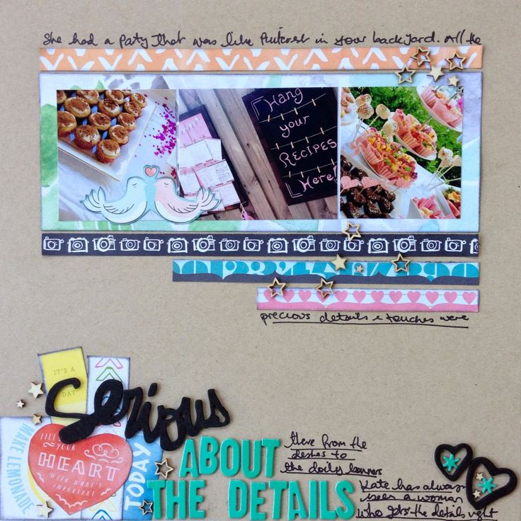 """""""Serious about the details"""" by Ruth Bonser, using Polly! Scrap Kits March 2014 Spearmint Leaves scrapbooking kit"""