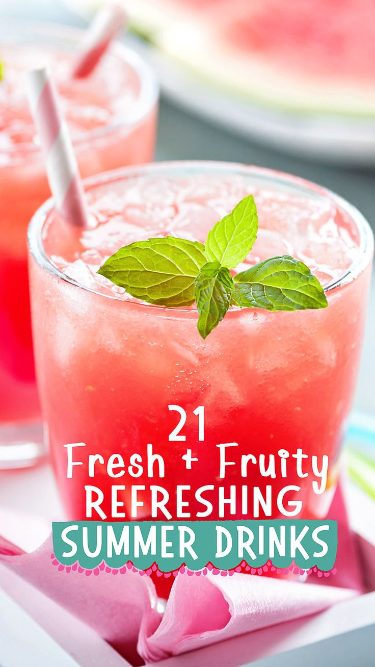 Fruity Summer Drinks Ideas to keep you cool this summer