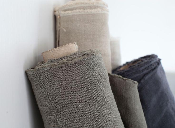 Dylan fabrics by www.lescreations.com   #linen 100%lino #telas #decor #soft #earthtones