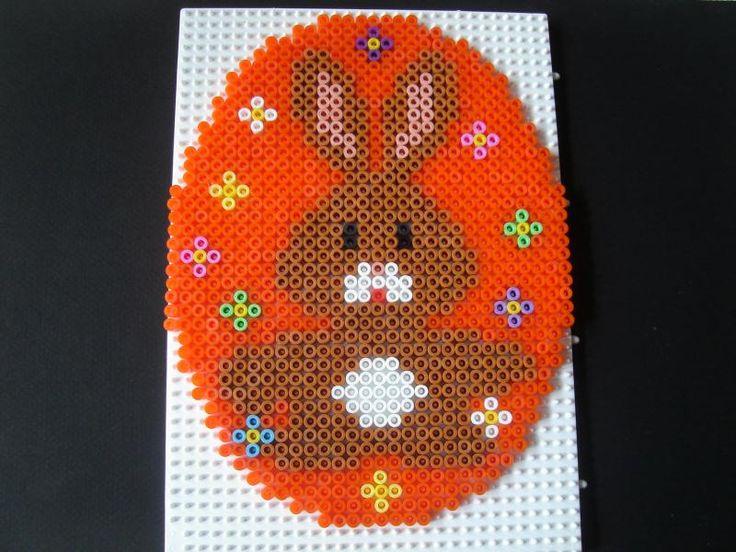Easter egg bunny hama perler by Isabelle8119