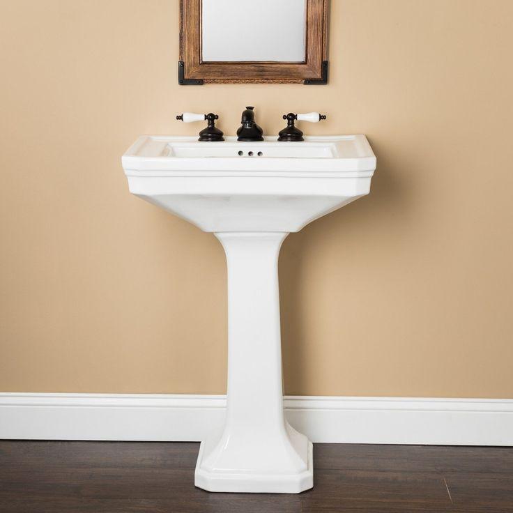 Randolph Morris 24 Inch Pedestal Sink 8 Inch Faucet Drillings Pedestal Sink Sink Bathroom Sink