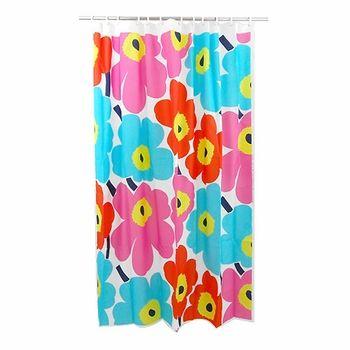 Marimekko Long Polyester Unikko Orange/Turquoise/Pink Shower Curtain | Pink Shower  Curtains, Marimekko And Marimekko Shower Curtain